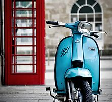 Italian Light Blue Lambretta GP Scooter by AJ Airey