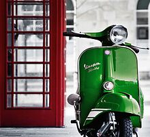 Italian Green Vespa Rally 200 Scooter by AJ Airey