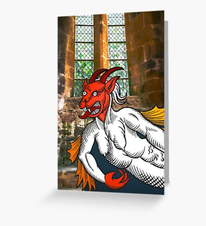 Gothic Grotesque Devil Greeting Card