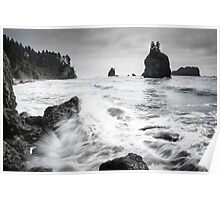 Waves - Olympic National Park Poster
