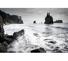 Waves - Olympic National Park Photographic Print