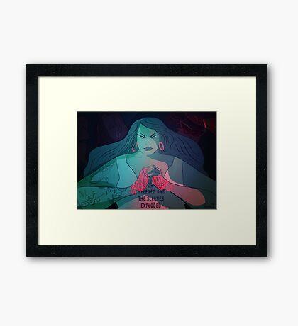 She's A Knockout Framed Print