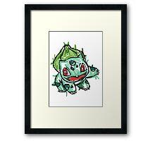 #001 Bulbasaur Illustration Framed Print