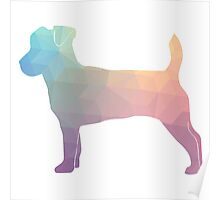 Jack Russell Terrier - Colorful Geometric Pattern - Pastel Poster