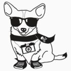 Hipster Corgi - Cute Dog Cartoon Character by designedbyn