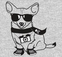 Hipster Corgi - Cute Dog Cartoon Character - Corgis Rule Kids Clothes