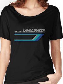 Land Cruiser body art series, blue tri-stripe.  Women's Relaxed Fit T-Shirt