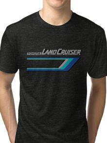 Land Cruiser body art series, blue tri-stripe.  Tri-blend T-Shirt