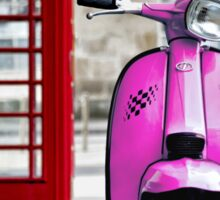 Italian Pink Lambretta GP Scooter Sticker
