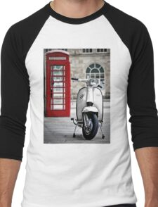 Italian White Lambretta GP Scooter Men's Baseball ¾ T-Shirt