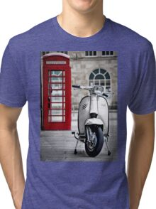 Italian White Lambretta GP Scooter Tri-blend T-Shirt