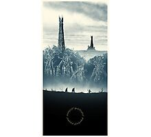 Lord of the Rings - Ring Design Blue Photographic Print
