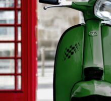 Italian Green Lambretta GP Scooter Sticker