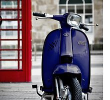 Italian Blue Lambretta GP Scooter by AJ Airey