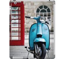 Italian Light Blue Lambretta GP Scooter iPad Case/Skin