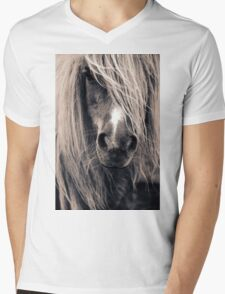 Portrait Of A Pony Mens V-Neck T-Shirt