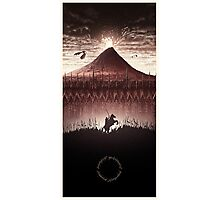 Lord of the Rings - Ring Design Red Photographic Print