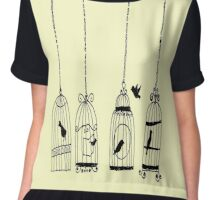 bird cage vintage (TY) Chiffon Top