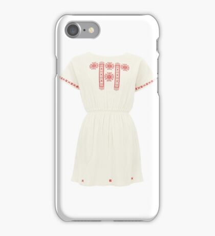Natacha Embroidered Cheesecloth Dress iPhone Case/Skin