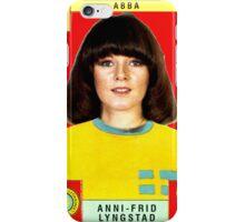 Anni-Frid Lyngstad from Abba retro football team design!~ iPhone Case/Skin