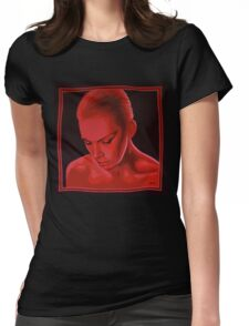 Annie Lennox painting Womens Fitted T-Shirt
