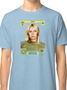 Agnetha Faltskog from Abba retro football team design!~ Classic T-Shirt