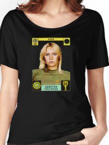 Agnetha Faltskog from Abba retro football team design!~ Women's Relaxed Fit T-Shirt