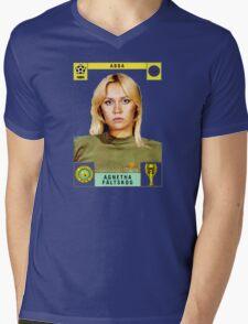 Agnetha Faltskog from Abba retro football team design!~ Mens V-Neck T-Shirt