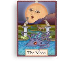The Moon Card Cryptozoology Tarot  Canvas Print