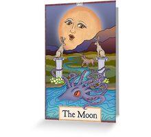 The Moon Card Cryptozoology Tarot  Greeting Card