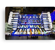 Piano Man - Customs House - Sydney Vivid Festival - Australia Canvas Print