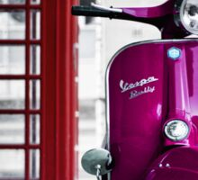 Italian Pink Vespa Rally 200 Scooter Sticker