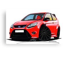 Ford Focus RS (Mk2) Red [Black Wheels] Canvas Print