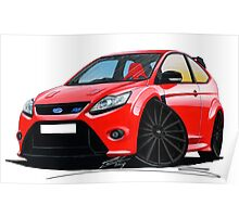 Ford Focus RS (Mk2) Red [Black Wheels] Poster