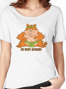 Sumo Wrestling Fat Cat Women's Relaxed Fit T-Shirt
