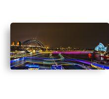 Circular Quay - Sydney Harbour - Vivid Festival - Australia Canvas Print