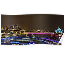Circular Quay - Sydney Harbour - Vivid Festival - Australia Poster