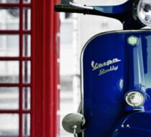Italian Blue Vespa Rally 200 Scooter Sticker