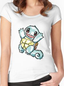 #007 Squirtle Illustration Women's Fitted Scoop T-Shirt