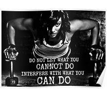 Do Not Let What You Cannot Do Interfere Poster