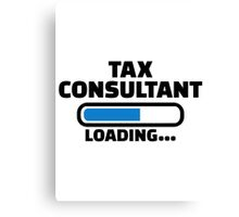 Tax consultant loading Canvas Print