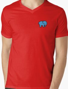 watercolor flower elephant Mens V-Neck T-Shirt