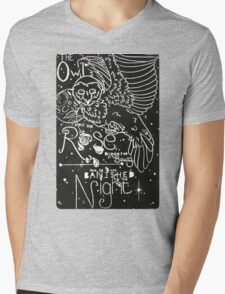 The Owl and the Rose Mens V-Neck T-Shirt