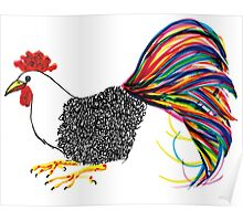 Calligraphic Rooster Poster