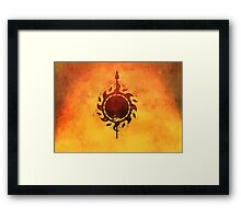 Sun and viper Framed Print