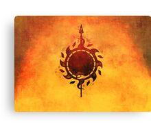 Sun and viper Canvas Print