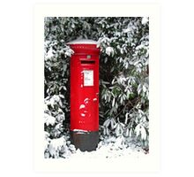 Pillar Box in the Snow Art Print