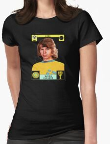 Bjorn Ulvaeus from Abba retro football team design!~ Womens Fitted T-Shirt