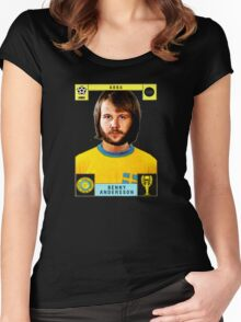 Benny Andersson from Abba retro football team design!~ Women's Fitted Scoop T-Shirt