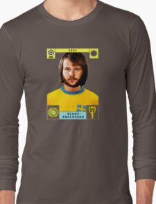 Benny Andersson from Abba retro football team design!~ Long Sleeve T-Shirt